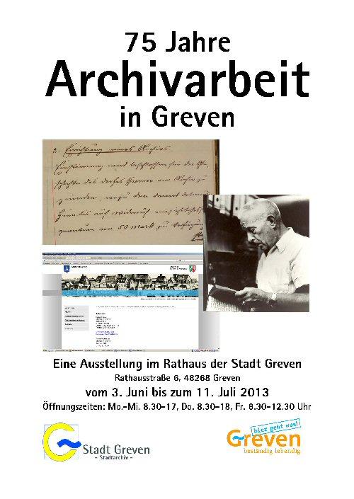 75 Jahre Archivarbeit in Greven