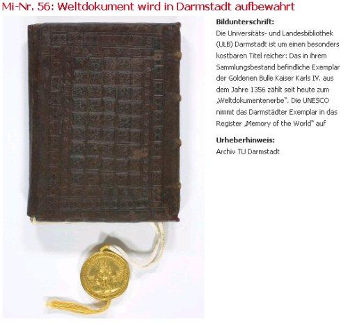 Goldene Bulle (Archiv TU Darmstadt)