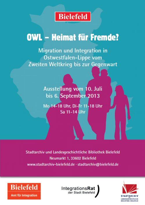 OWL - Heimat für Fremde? Ausstellung im Stadtarchiv Bielefeld