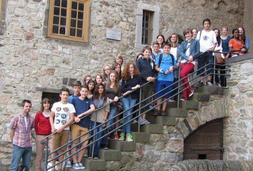 Abb.: Klasse 7c der Taunusschule in Bad Camberg (Foto: Stadtarchiv Limburg)