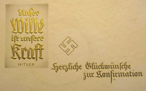 Abb. 3: Glückwunschkarte Konfirmation Adolf Hitler (o. D.)
