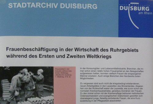 Plakatausschnitt 'Frauenbeschäftigung in der Wirtschaft des Ruhrgebiets während des Zweiten Weltkriegs' (Stadtarchiv Duisburg)