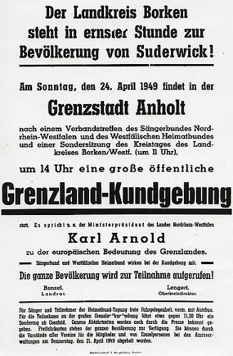 Kreisarchiv und Bocholter Stadtarchiv stellen Quellen zur Grenzgeschichte Suderwicks vor (Plakat Kreisarchiv Borken)