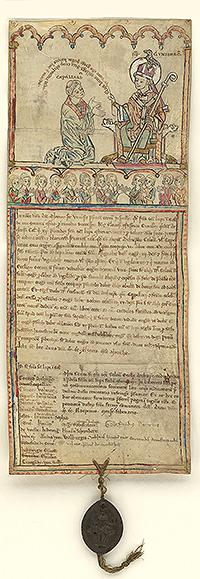 Urkunde der Lupus-Bruderschaft von 1246