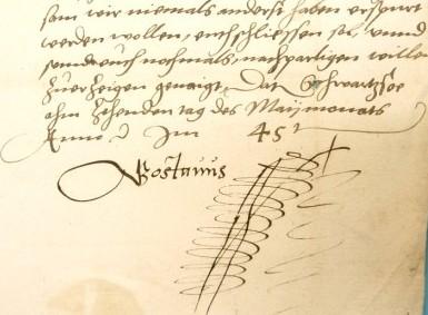 Manu propria von König Gustav Wasa vom 10.5.1545 (Quelle: AHL ASA Externa Suecica 128)