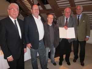Von links: Erich Hägele, Dr. Kurt Hochstuhl, Uwe Schellinger, Norbert Schlageter, Gundolf Fleischer (Foto: Joachim Spägele).