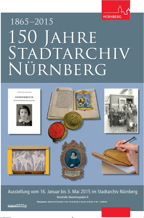 Plakat 150 Jahre Stadtarchiv Nürnberg