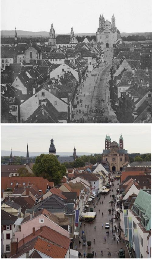 Ausstellung Speyerer Stadtansichten - einst und jetzt