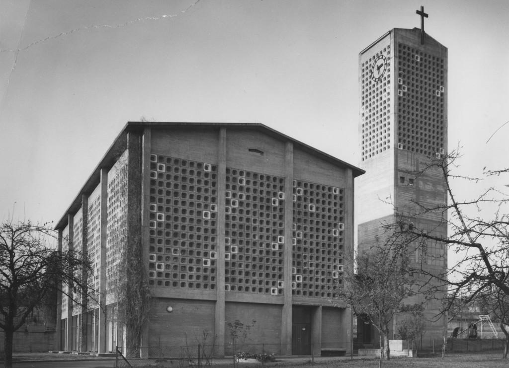Die Matthäuskirche 1963 (Foto: G. Wipfler, Stadtarchiv Pforzheim)