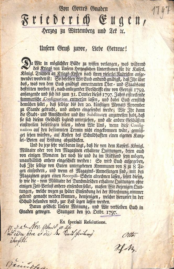 Heimsheim Herzogsreskript_1797